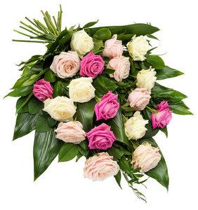Rouwboeket met rozen