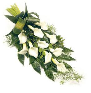 Rouwboeket Calla-lelies